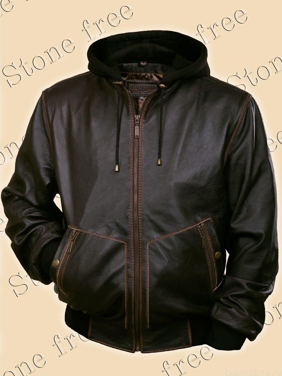 Купить Теплую Кожаную Куртку Мужскую Зимнюю С Капюшоном