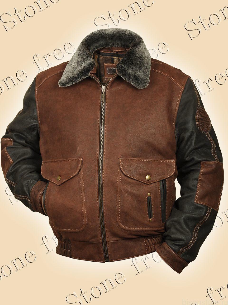 Зима зимние кожаные мужские куртки
