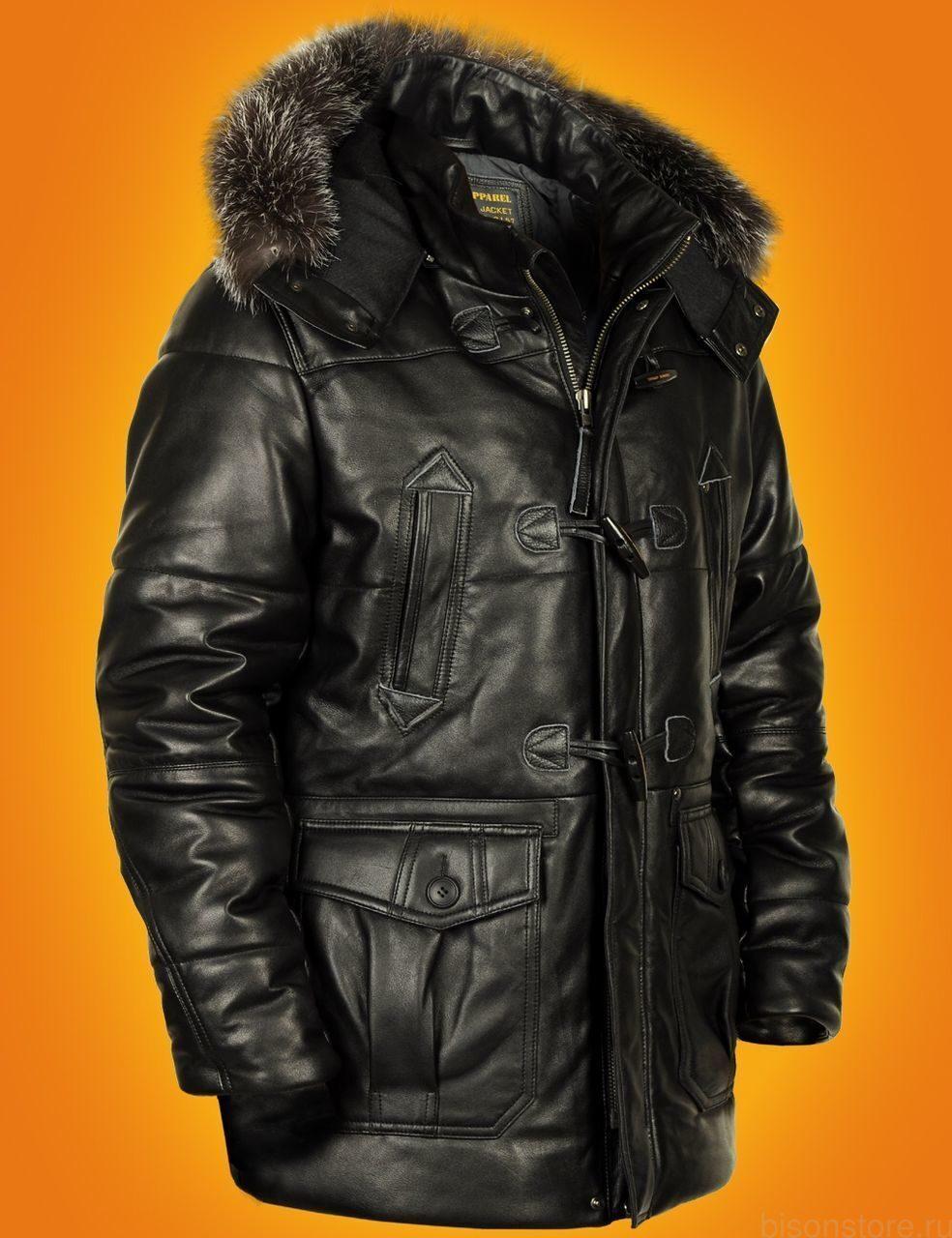 мужской кожаный пуховик в новосибирске