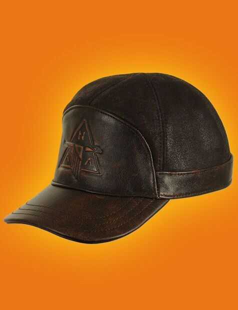 Бейсболка меховая Cap Brown Vintage